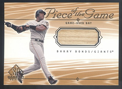 2001 Barry Bonds - 2001 SP Game Bat Edition Piece Of The Game #BB Barry Bonds Bat Relic Card