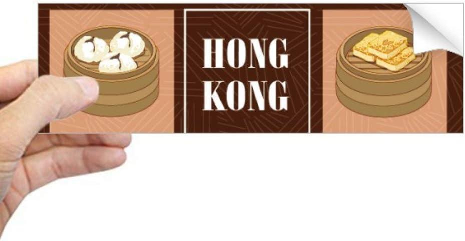 DIYthinker Hong Kong Local Food China Rectangle Bumper Sticker Notebook Window Decal