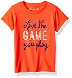 Under Armour Little Girls' Love The Game You Play Short Sleeve T-Shirt, Neon Coral, 6