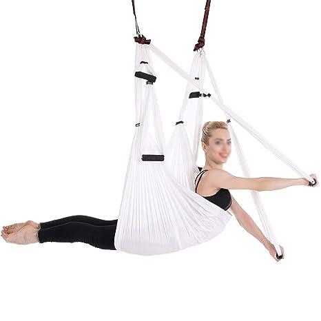 Hankyky Multicolors Anti-Gravity Yoga Hammock, Yoga Flying ...