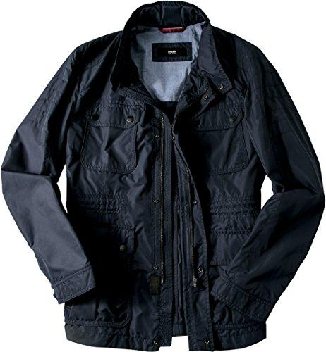 HUGO BOSS Herren Jacke Jack Mikrofaser modisches Langarmoberteil Unifarben, Größe: 50, Farbe: Blau