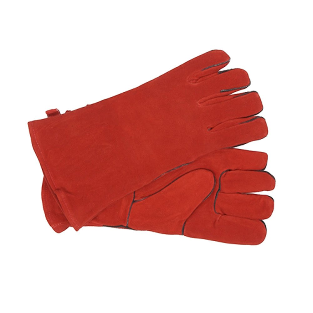 Minuteman International Standard Fireplace Hearth Barbeque Gloves, Red