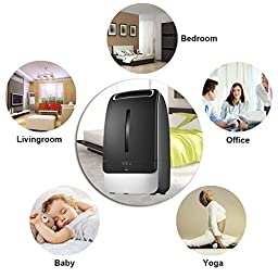URPOWER Humidifier, 5L Large Capacity Whisper-quiet Operation Cool Mist Ultrasonic Humidifier Waterless Auto Shut-off with Adjustable Mist Mode for Home Bedroom Babyroom Office