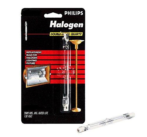 Philips 512103 Halogen 300W T3 Quartz Light Bulb Clear 119MM 2 Pack
