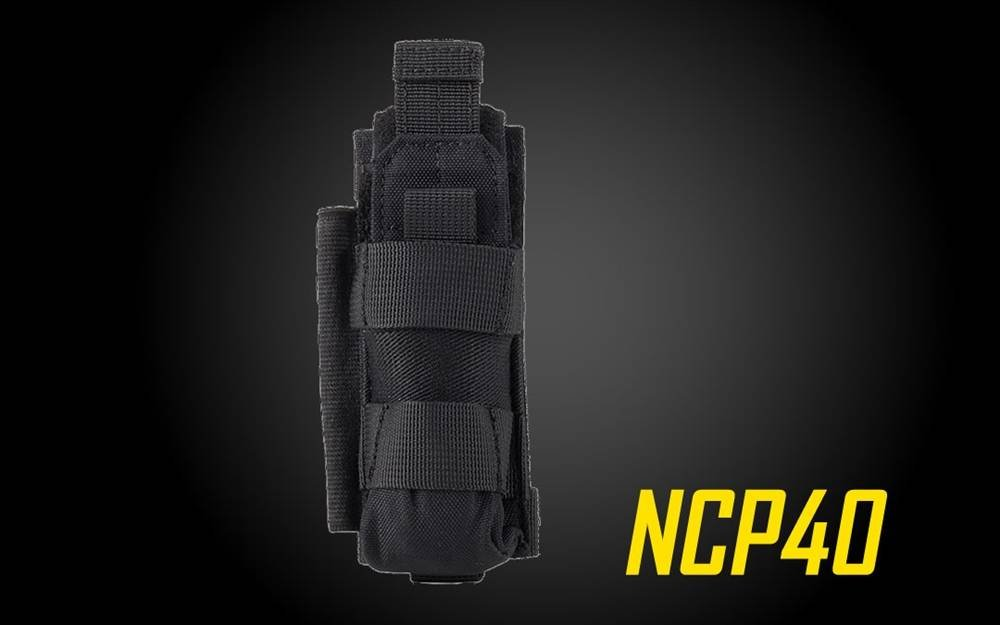 Nitecore NCP40B NCP40 Holster Flashlight, Black