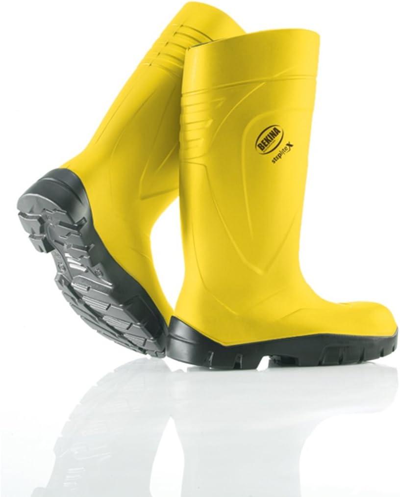 con Tapa de acero y mediante pedalada Protecci/ón bekina de PU de botas Step Lite X Amarillo S5