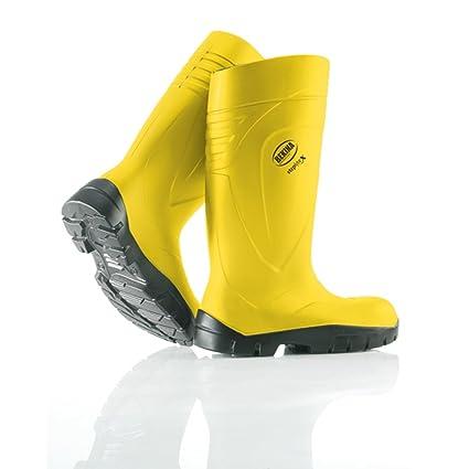 BEKINA-PU - botas de step Lite X amarillo S5, con puntera metálica y