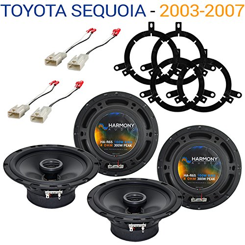 (Fits Toyota Sequoia 2003-2007 Factory Speaker Upgrade Harmony (2) R65 Package New)
