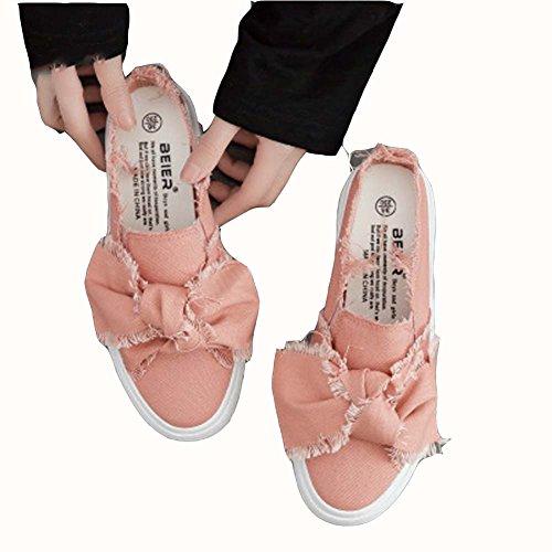 UK3 Studente Da Corsa Ginnastica Scarpe Pink Da Harajuku Scarpe Scarpe Casual Tonigue Scarpe Piatte Donna Da Da UK7 CxwFZFq6