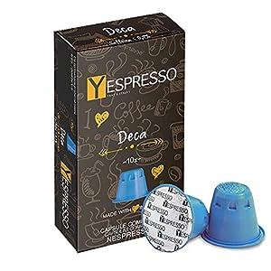 Yespresso Capsule Nespresso Compatibili Decaffeinato - Confezione da 100 Pezzi