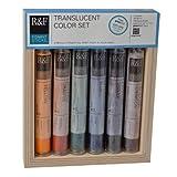 R&F Handmade Paints Pigment Sticks, Translucent Colors, Set Of 6-Oil Based Pigment Sticks