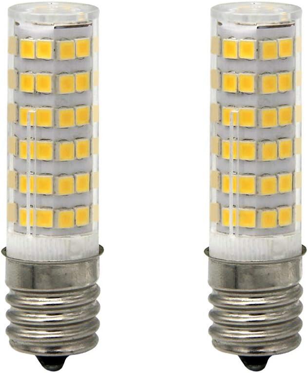 DiaoMao Ceramic E17 LED Bulb for Microwave Oven Appliance, 5W (50W Halogen Bulb Equivalent), Warm White 3000K, (Pack of 2)