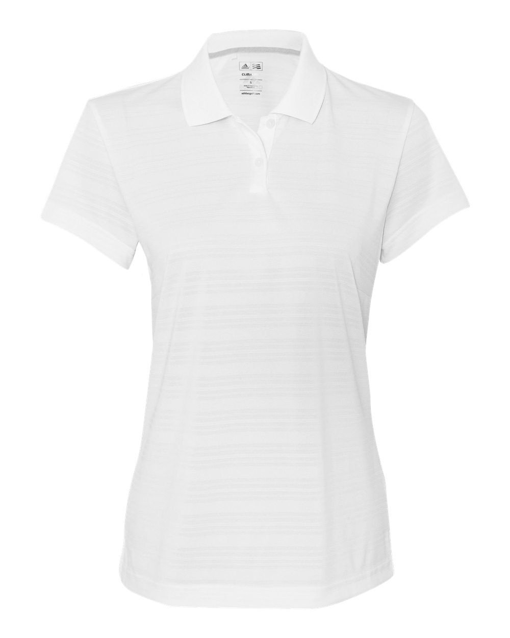adidas Golf Womens Climalite Textured Short-Sleeve Polo (A162) -White -M