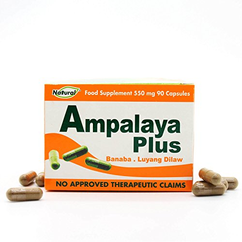 Blood Sugar Support Supplement - 550mg 90 Capsules for Blood Sugar Control with Bitter Melon, Lagerstroemia Speciosa, Turmeric Ginger by Ampalaya Plus