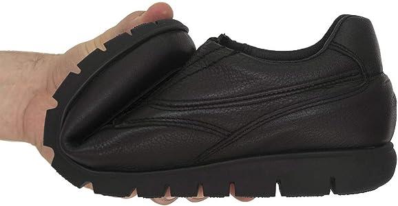 PAYMA - Zapatos de Trabajo, Uniforme y Hostelería de Piel para Hombre. Hechos en España. Acolchados. Repelentes al Agua. Suela de Goma de Caucho. Ideal Camareros, Uniformes. con/Sin Cordones y Velcro: Amazon.es: