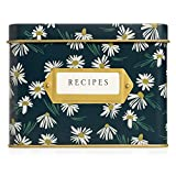 Jot & Mark Decorative Tin for Recipe Cards | Holds