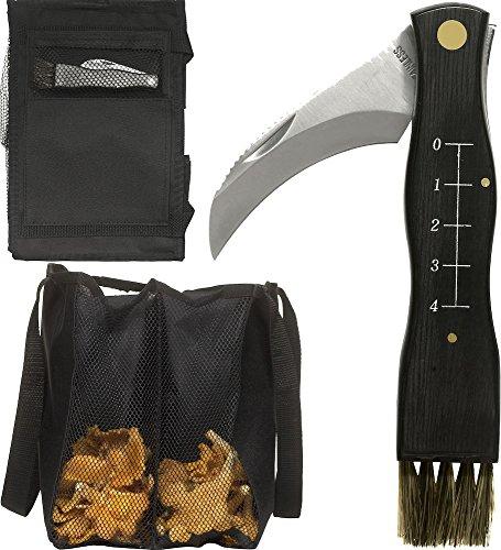 Sagaform Forest Mushroom/Truffle Knife Set with Bag