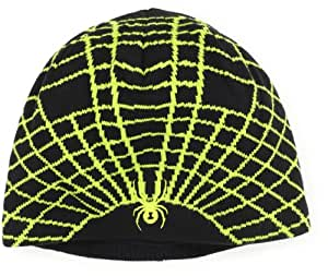 Spyder Men's Web Hat, Black/Sharp Lime, One Size