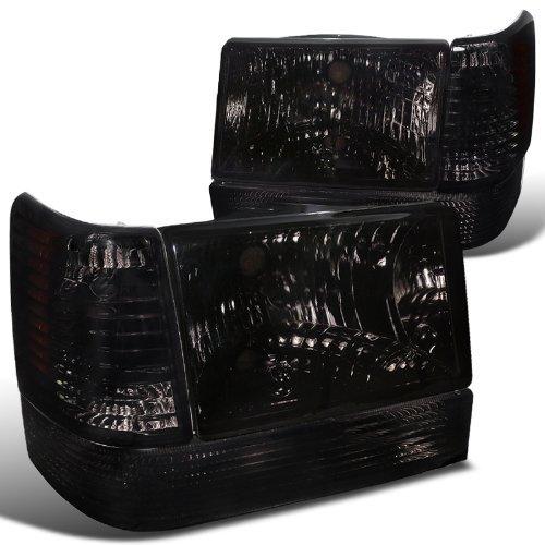 Jeep Cherokee Corner Light - Spec-D Tuning 2LBCLH-GKEE93G-RS Smoke Headlight (Combo: 93-98 Grand Cherokee With Corner Lights And Bumper Lights)