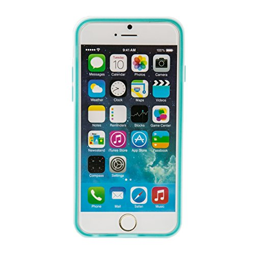 """iProtect housse de protection flexible Soft Case multicolores blanc et mat Apple iPhone 6 (4,7"""") en vert"""