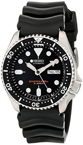 Seiko SKX007J1 Analog Japanese-Automatic  Black Rubber Diver's ()
