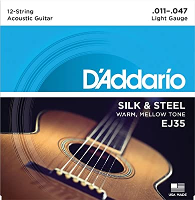 D'Addario Silk & Steel Folk Guitar Strings