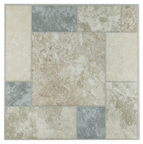 Achim Home Furnishings FTVGM32720 Nexus 12-Inch Vinyl Tile, Marble Blocks, 20-Pack