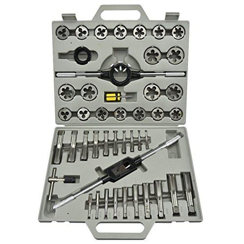 Neiko 00906 Tap & Die Threading Kit, Forged Alloy Steel | 45 Piece Set