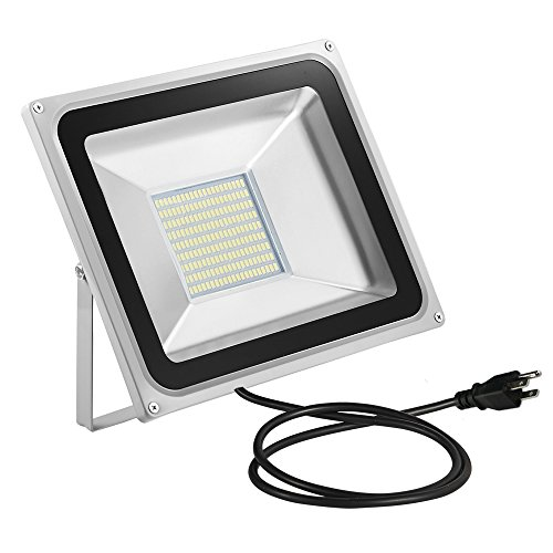 Outdoor Security Lights That Plug In: CHUNNUAN LED Flood Light,10/20/30/50/100W, Waterproof