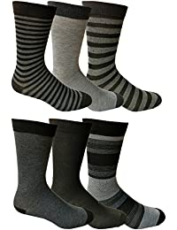 6 Pairs of Mens Dress Socks, Colorful Patterned Assorted Styles