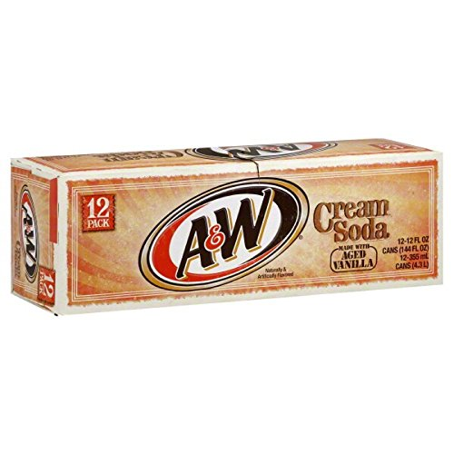 (A&W Cream Soda made with Aged Vanilla Fridgepack - 12 oz cans - 12 pack)