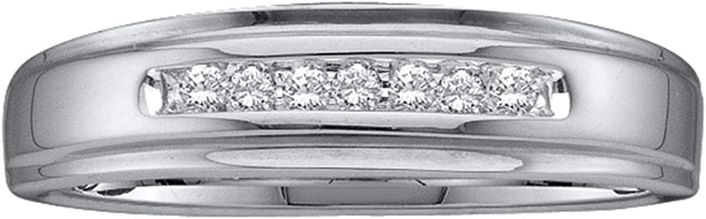 Sonia Jewels 10k Yellow OR White Gold Diamond Wedding Mens Ring Band (0.08 cttw.)