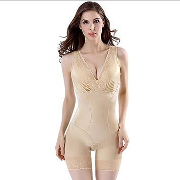 Damen Körperformer Miederbody Shapewear Mieder Full Body Slimming Unterwäsche 38