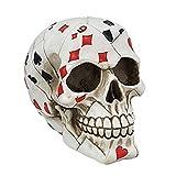 Ky & Co YesKela Playing Card Poker Face Skull Figurine Skeleton Halloween