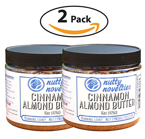 Almond Pecan Pie (Nutty Novelties Cinnamon Almond Butter - High Protein, Sweet Almond Butter - All-Natural, Light Almond Butter Free of Cholesterol & Preservatives - Pure Almond Butter - 30 Ounces)