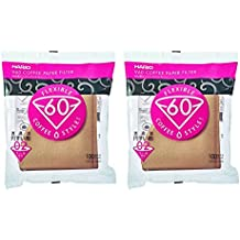 Hario VCF-02-100M-2S  02 100-Count Coffee Natural Paper Filters, 2-Pack Value Set (Total of 200 Sheets)