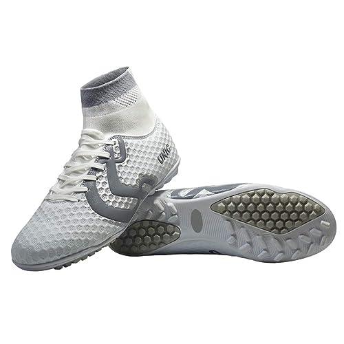 9a6b3546c0c1b Unicsport UNIC Zapato de Futbol Modelo Siberian multitacos Color  Blanco-Gris Talla 21