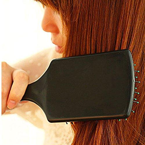 New Professional Scalp Hairbrush Comb Paddle Cushion Hair Care Massage Brush Black
