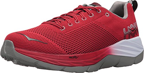 HOKA ONE ONE Men's Mach Racing Red/Black Running Shoe 12 Men ()