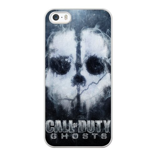 Coque,Coque iphone 5 5S SE Case Coque, Call Of Duty Ghosts Cover For Coque iphone 5 5S SE Cell Phone Case Cover blanc