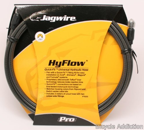 Jagwire HyFlow Disc Hose, Black Carbon, 3000mm, Requires Jagwire HyFlow Quick-Fit (Disc Brake Hose)