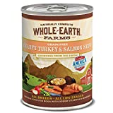 Whole Earth Farms Grain Free All Breed All Life Stages Wet Dog Food Hearty Turkey & Salmon Stew (12) 12.7 oz Cans (Color: (12) 12.7 oz Cans, Tamaño: (12) 12.7 oz Cans)