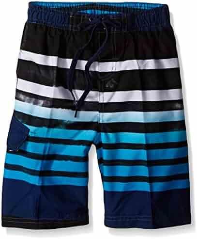 Kanu Surf Boys' Reflection Stripe Swim Trunk
