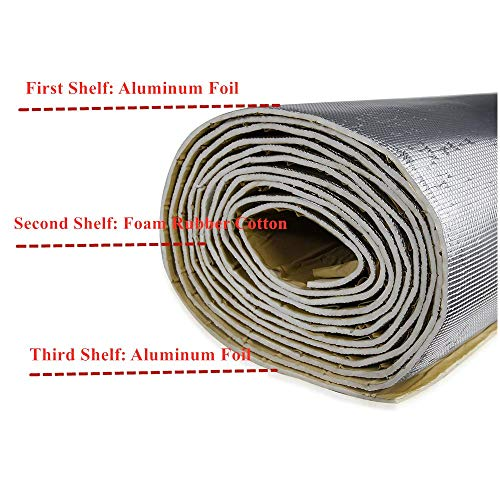 SHINEHOME 6mm 236mil Car Sound Deadener Deadening Heat Insulation Mat Noise Insulation and Dampening Mat Heat Proof Mat 40 inches x 118 inches - 1950 Sedan Meadowbrook Dodge