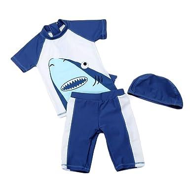 Bañador Tres Piezas para Niño Traje de Baño Protección UV ...