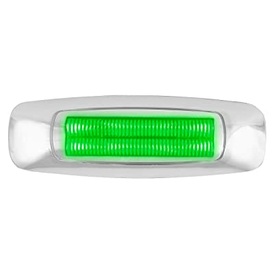 GG Grand General 74758 5 Inch Rect. Prime Green/Clear 4 Led Dual Function Int. Light: Automotive