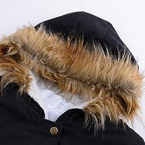 Sunward Women Ladies Fashion Sexy Warm Jacket Hooded Winter Parka Coats Top Cotton Ladies Coat Outwear (S, Black)