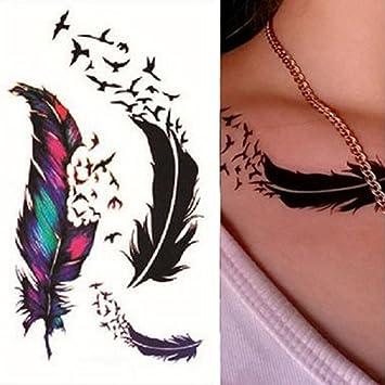 Amazon Com Polytree Temporary Tattoos For Women Teens Girls Bird