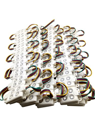 Price comparison product image Pearlight 100 pcs a pack Square Waterproof RGB Injection Module DC 12V 20 Pcs Per String