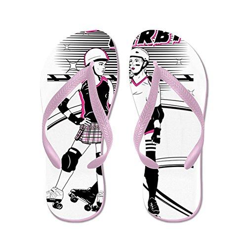Cafepress Roller Derby - Flip Flops, Roliga Rem Sandaler, Strand Sandaler Rosa